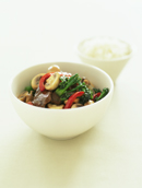 Mushroom, Lamb and Broccolini Stir Fry