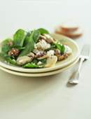 Warm Mushroom, Walnut & Spinach Salad