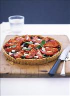 Balsamic Onion, Olive and Tomato Tart