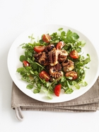 Chargrilled Sesame Octopus and Watercress Salad