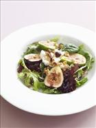 Fig, Goats Cheese and Hazelnut salad