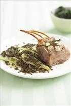 Rack of Lamb with French Lentil & Fennel Salad