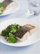 Grilled Salmon with Broccoli and Walnuts