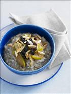 Creamy Buckwheat and Almond Kasha with Stewed Apple and Prunes