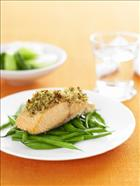 Artichoke and Caper Crusted Salmon